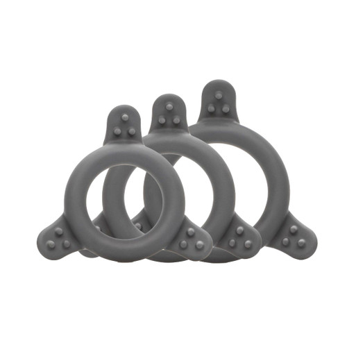 Buy the Pro Series Silicone Erection Enhancing Love Ring Set - Cal Exotics