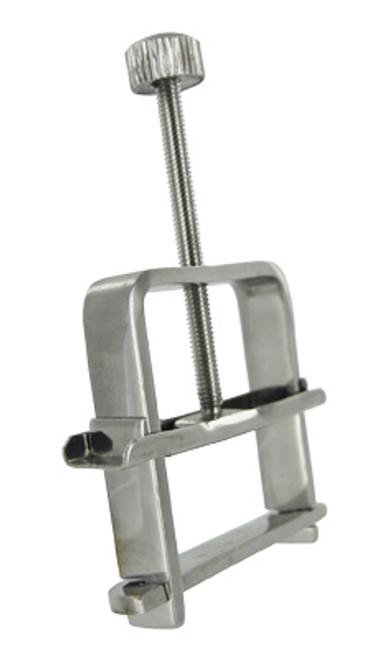Buy the Master Series Stainless Steel Nipple Vise Clamp Single - XR Brands