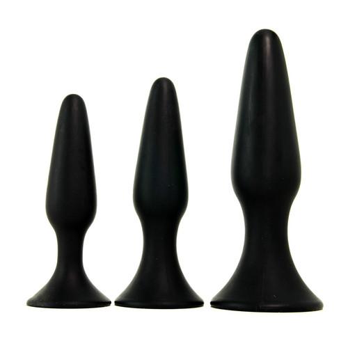 Buy the Silicone Anal Trainer 3-piece Butt Plug Set with graduated analplug - CalExotics Cal Exotics California Exotic Novelties