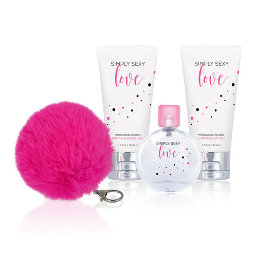 Buy SIMPLY SEXY Love Pheromone Infused 4-piece Gift Set Perfume Bath & Shower Gel Shimmer Lotion - Classic Erotica