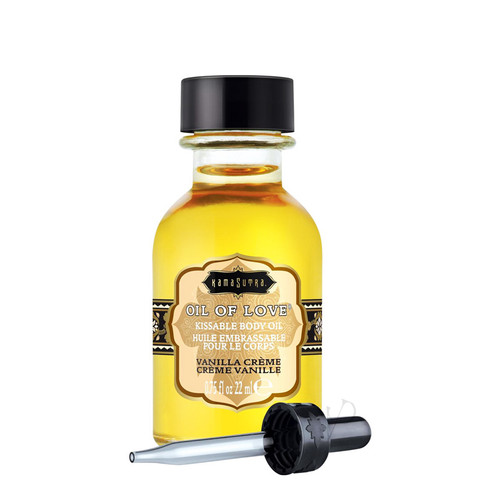 Buy the Oil of Love Vanilla Creme Water-based Kissable Body Oil .75 oz - Kama Sutra