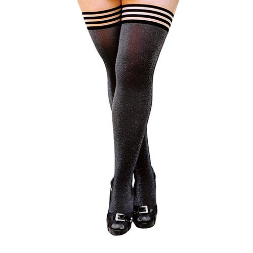 Buy the Kaylee Gray Shimmer No-Slip Thigh High Tights - Kix'ies
