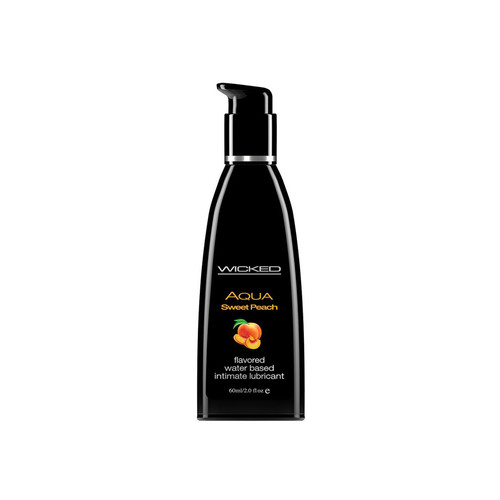 Buy the Aqua Sweet Peach Flavored Water-based Lubricant 2 oz - Wicked Sensual Care