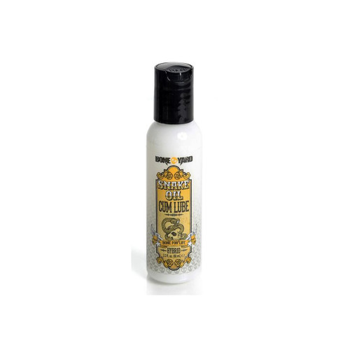 Buy the Boneyard Snake Oil Cum Lube Hybrid Water/Silicone-based Lubricant 2.3 oz - Channel 1 Releasing Rascal Toys