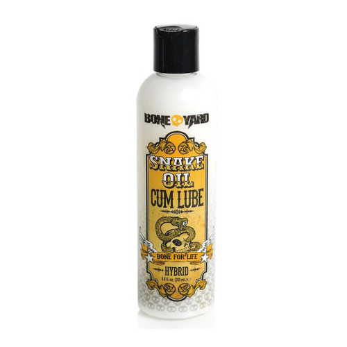 Buy the Boneyard Snake Oil Cum Lube Hybrid Water/Silicone-based Lubricant 8.8 oz - Channel 1 Releasing Rascal Toys