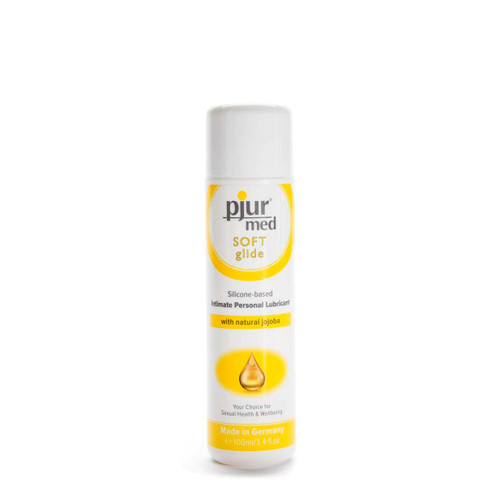 Buy Med Soft Glide Silicone-based Intimate Personal Lubricant with Natural Jojoba 3.4 oz or 100 mL - pjur group made in Germany