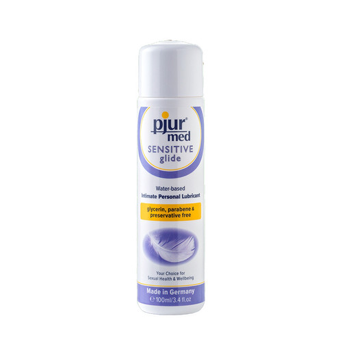 Buy Med Sensitive Glide Water-based Intimate Personal Lubricant 3.4 oz or 100 mL - pjur group made in Germany