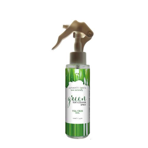 Buy the Green Tea Tree Oil Toy Cleaner Spray 4.1 oz Trigger - Intimate Earth Organics