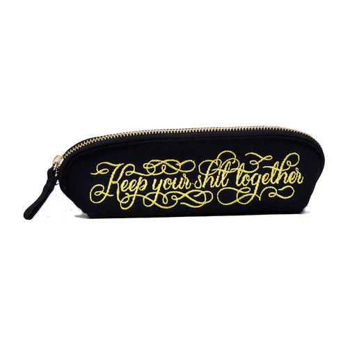 Buy the Keep Your Shit Together Zipper Pouch - Calligraphuck