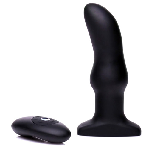 Buy the Model M Angled 13-function Remote Control Rechargeable Silicone Rimming Plug with Rotating Beads - XR Brands Rimmers
