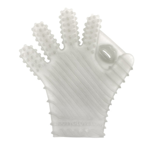 Buy the Textured Ambidextrous Erotic Massage Masturbation Glove Sky Blue Med-XL - Booty Glove