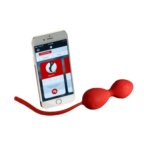 Buy the Miss On the Go App-connected Vibrating Smart Kegel Exerciser Set - Miss VV's Mystery