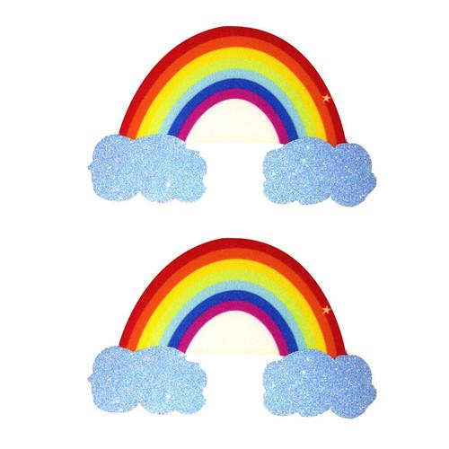 Buy the Nipztix Rainbow Glitter Cloud Pasties Nipple Covers - Neva Nude