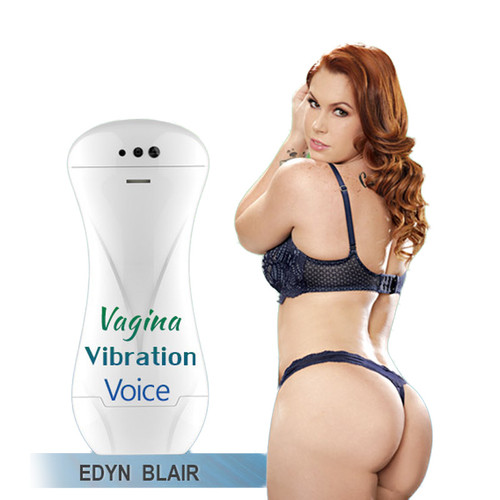 Buy the 3V Starlet Stroker Rechargeable Vibrating Edyn Blair Masturbator with Voice - Pleasure Products USA