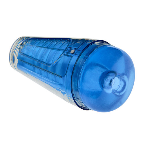 Buy the Main Squeeze Optix Crystal Clear Blue Variable Pressure UltraSkyn Male Stroker - Doc Johnson