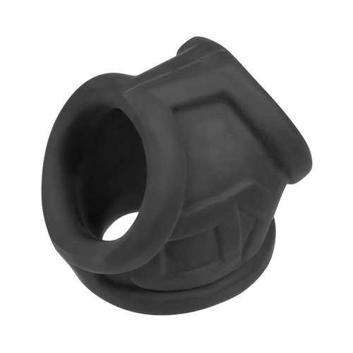 Buy the OxSling Silicone Plus Cockring & Ball-Stretching Power Sling Black Ice -OxBalls