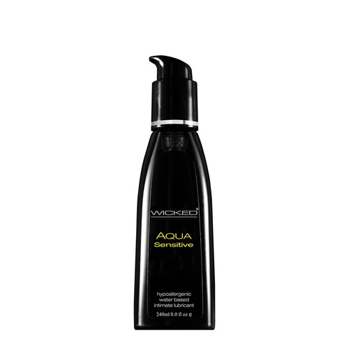 Buy the Aqua Sensitive Fragrance-Free Water-based Lubricant 8 oz - Wicked Sensual Care