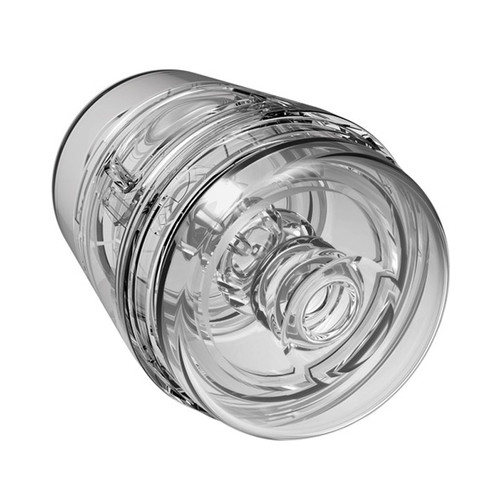 Buy the Main Squeeze Pop-Off Optix Crystal Clear Variable Pressure UltraSkyn Compact Male Stroker - Doc Johnson