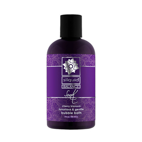 Buy the Balance Soak Cherry Blossom Foaming Bubble Bath 8.5 oz - Sliquid Lubricants