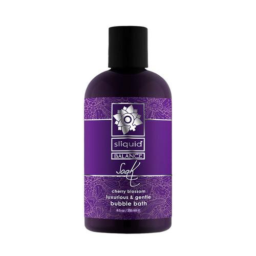 Buy the Balance Soak Cherry Blossom Foaming Bubble Bath 8.5 oz - Sliquid Lubricants