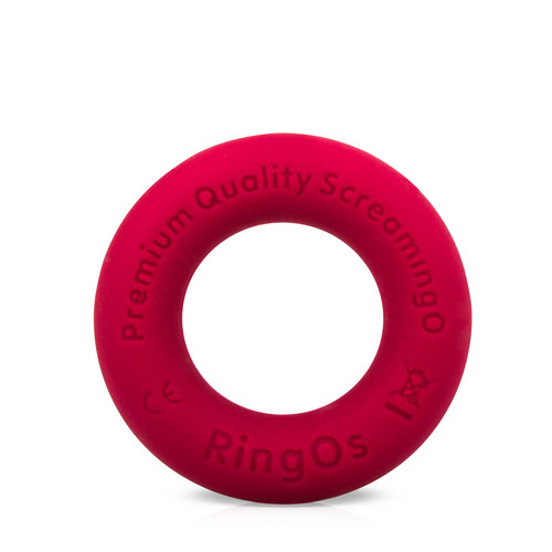 Buy the RingO Ritz Red Liquid Silicone Erection Enhancer Penis Ring - Screaming O