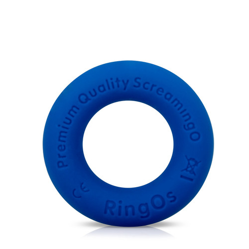 Buy the RingO Ritz Blue Liquid Silicone Erection Enhancer Penis Ring - Screaming O
