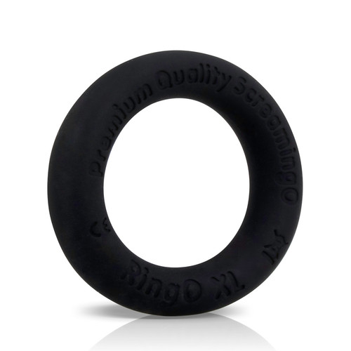 Buy the RingO Ritz XL Black Liquid Silicone Erection Enhancer Penis Ring - Screaming O