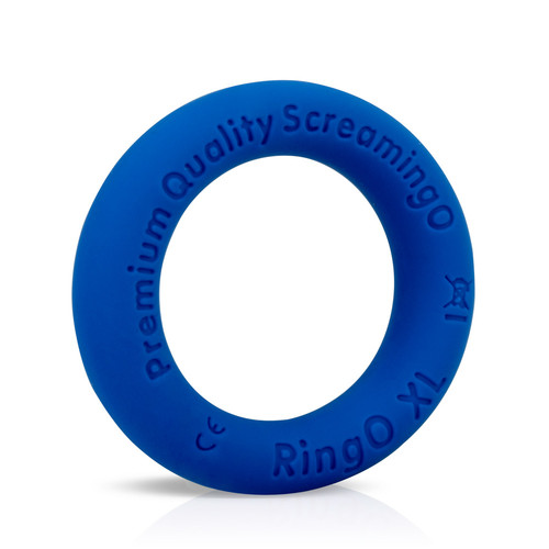 Buy the RingO Ritz XL Blue Liquid Silicone Erection Enhancer Penis Ring - Screaming O