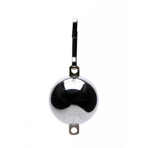 Buy the Oppressors Orb 8 oz Chrome Ball Weight with Connection Point & Clip - XR Brands Master Series