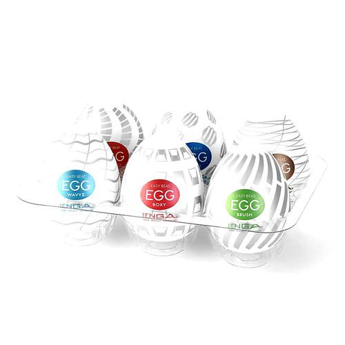 Buy the Egg Easy Beat New Standard Stroker Variety 6 Pack - TENGA Global
