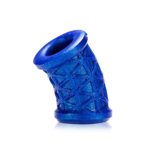 Buy the Morph Curved Silicone Ball Stretcher Blueballs Metallic Blue - OxBalls Blue Ox Designs