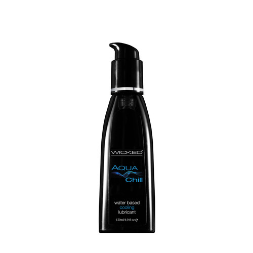 Buy the Aqua Chill Cooling Water-based Lubricant 4 oz - Wicked Sensual Care