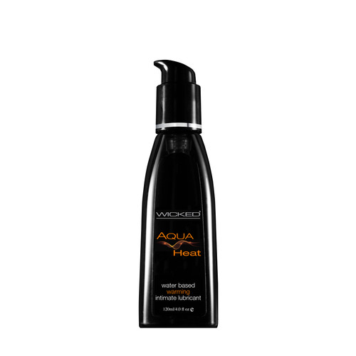 Buy the Aqua Heat Warming Water-based Lubricant 4 oz - Wicked Sensual Care