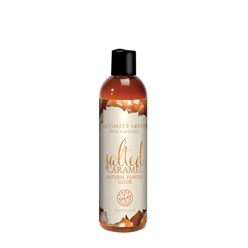 Buy the Natural Flavors Salted Caramel Flavored Water-Based Glide Lubricant 2 oz - Intimate Earth