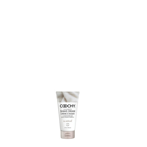Buy the Coochy Au Natural Fragrance Free Oh So Smooth Shave Cream 3.4 oz - Classic Brands
