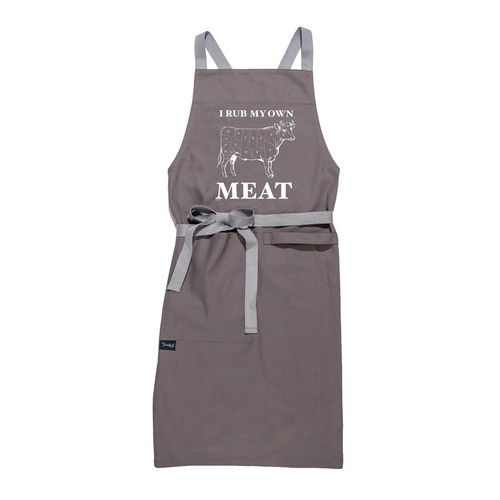 Buy the Twisted Wares I Rub My Own Meat Apron for kitchen or grilling