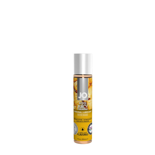Buy the H2O Juicy Pineapple Flavored Water-based Personal Lubricant 1 oz - System JO