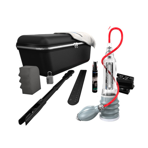 Buy the HydroXtreme7 Hydropump Penis Pump Kit Crystal Clear X30 - Bathmate UK