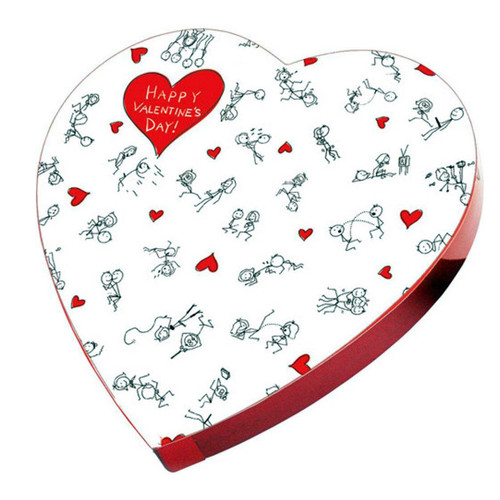 Buy the Stick Figure Valentine Candy Heart Box - Little Genie Productions