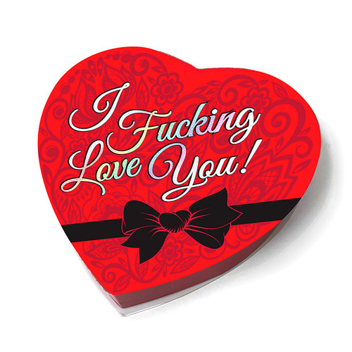 Buy the I Fucking Love You Valentines Heart Box of Chocolates - Little Genie Productions
