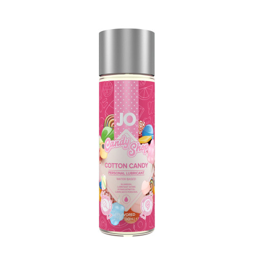Buy the Candy Shop Cotton Candy H2O Flavored Water-based Personal Lubricant 1 oz - System JO