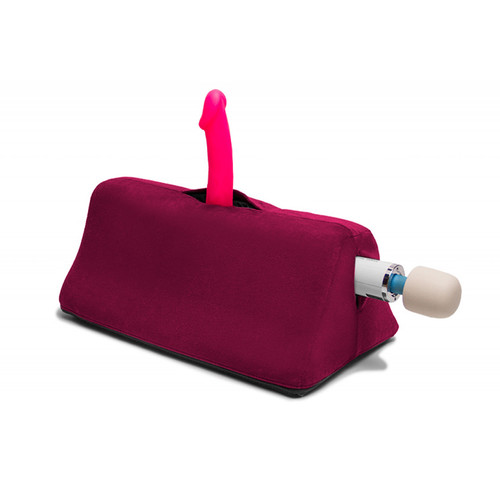 Buy the Tula Sex Toy Mount Cushion Pillow Velvish Merlot Red - Liberator Luvu Brands