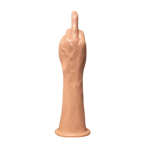 Buy the Massive The Finger Fister Middle Finger Extended Fisting Trainer Dildo with Suction Cup Flipping the Bird - Icon Brands