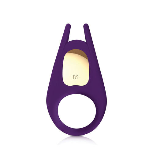 Buy the Pussy & The Knight 10-function Rechargeable Vibrating Silicone Couples Ring Deep Purple - Rianne S Made in France