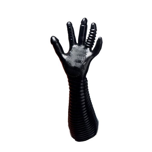 Buy the Pleasure Fister Textured Unisex Multi-purpose Elbow-length Fisting Glove - XR Brands Master Series