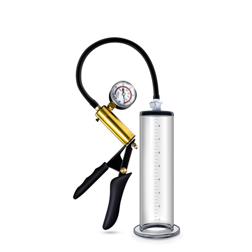Buy the Performance VX6 Vacuum Penis Cylinder With Brass Pistol Grip Pump & Pressure Gauge - Blush Novelties