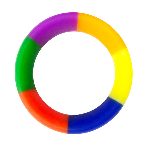 Buy the Brawn Pride 3X Stretch Silicone Cock Ring Rainbow - C1R Rascal Toys