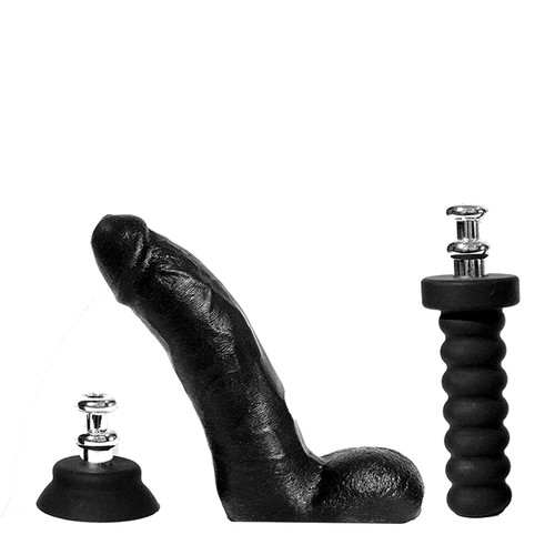 Buy the Cock! 8 inch Realistic Silicone Dildo with X-Treme Grip Tool Kit Handle Suction Cup - Rascal Toys Boneyard