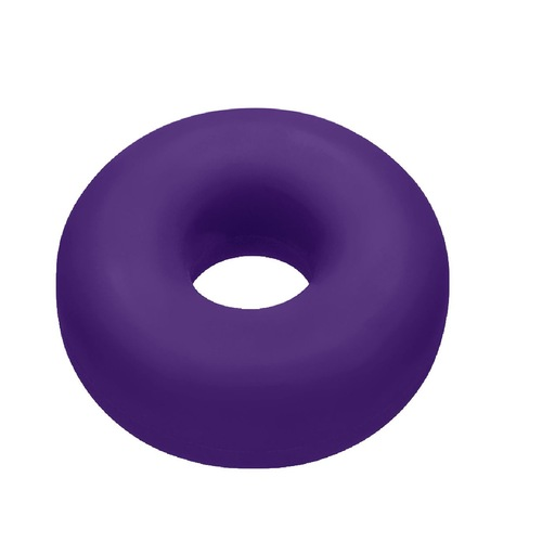 Buy the Big Ox Super Mega Stretch Silicone Plus C-Ring Erection Enhancer In Eggplant Purple -OxBalls