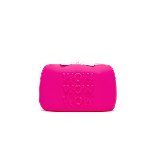 Buy the Happy Rabbit WOW Small Silicone Lockable Storage Case with Zipper in Pink - LoveHoney